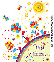 Greeting colorful card