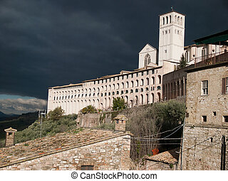 Assisi, Italy - The  Basilica of St.Francis in Assisi ,Italy
