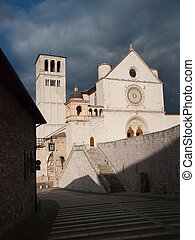 Assisi,Italy - The facade of the Basilica of St.Francis in...