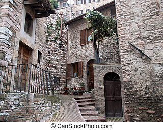 Assisi,Italy - City of Assisi in Italy
