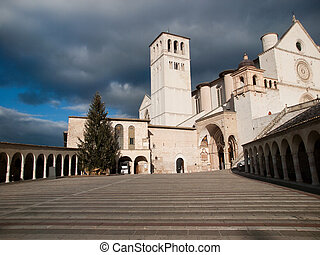 Assisi,Italy - The Basilica of St.Francis in Assisi ,Italy