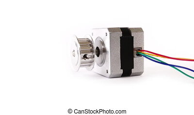 Electric Stepper Motor Lying Down - Electric stepper motor...