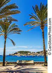 Port de Soller in Mallorca - The Port de Soller in Mallorca,...