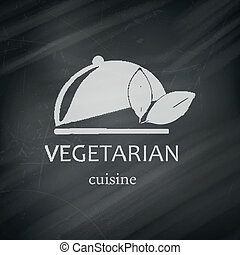 Vector Vegan Menu Design Template - Vector Illustration of a...