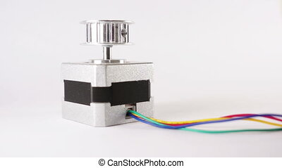 Electric Stepper Motor End Up - Electric stepper motor with...