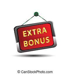Extra Bonus Icon Internet button