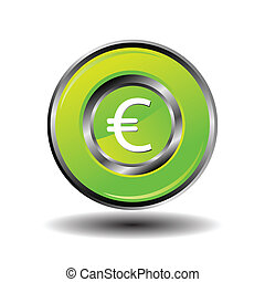 Euro Sign icon vector