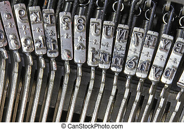 letters of the mechanical typewriter from the last century -...