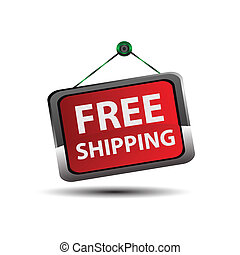 Free Shipping icon Button