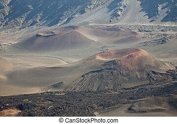 Craters - Haleakala National Park, East Maui Volcano, Maui,...