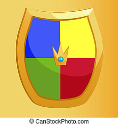 Shield, isolated on yellow, vector, eps 8 format