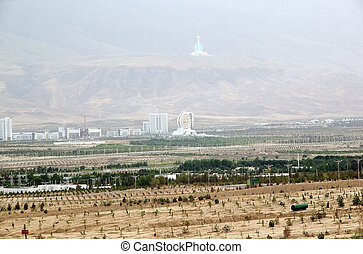 Turkmenistan - The view of some of the modern buildings in...