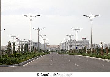 Turkmenistan - Modern buildings in Ashgabat, Turkmenistan...