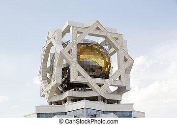 Turkmenistan - Architecture details of the Wedding Palace at...
