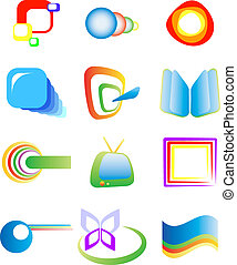 Abstract design elements, vector, isolated on white