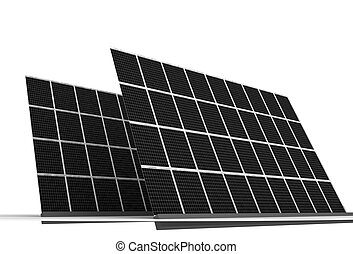 Solar panels - Illustration of Solar panels isolated on...