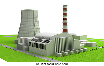 Power station - Illustration of Power station isolated on...
