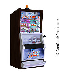 Slot machine - isolated on the white background