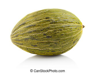 Piel de sapo green melon isolated white in studio - Studio...
