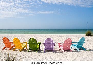 夏天, 假期, 海灘