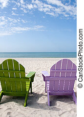 verão, férias, praia