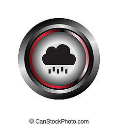 Single weather icon - Cloud with Ra