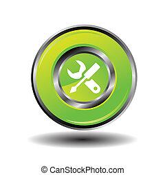 Work tool button icon vector