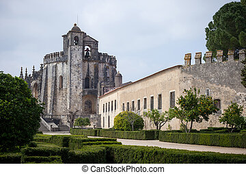 Tomar, Portugal - Castle of Tomar. Convent of the Order of...