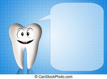 Tooth with comic for dentist - illustration of Tooth with...