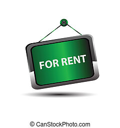 For rent icon sign vector