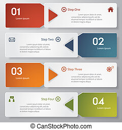 Design number banner template. - Design clean number banners...