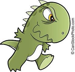 Tough Mean Dinosaur Vector art