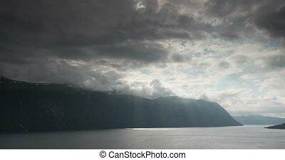 4K, Time Lapse of Eidsveg landscape - 4K Timelapse of...