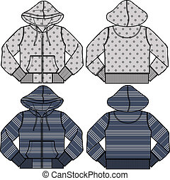 boy and girl fashion hoodies