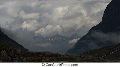 4K, Time Lapse of Trollstigen lands - 4K Timelapse of...
