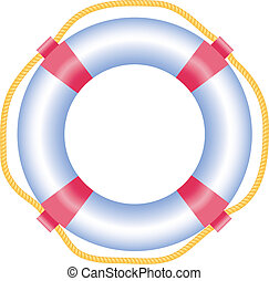 Lifebuoy, isolated on white, vector