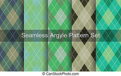 Seamless argyle pattern. Diamond shapes background. Vector...