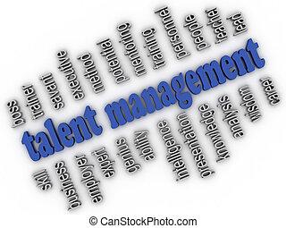 3d imagen Talent Management concept word cloud background