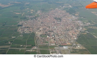 Lombard Town - aerial view of an italian Town in Lombardy