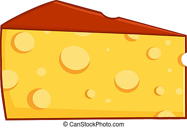 Cartoon Wedge Of Cheese - Cartoon Character Wedge Of Cheese
