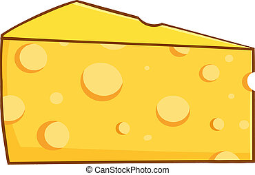 Cartoon Wedge Of Yellow Cheese - Cartoon Character Wedge Of...