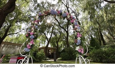 Decorated wedding arch - Design elements of a wedding...