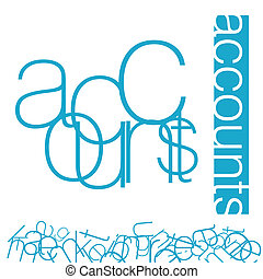 Accounts - An abstract illustration on a Accounts Signage...