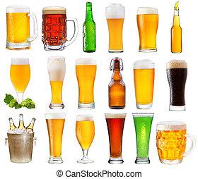 jogo, Vário, ÓCULOS, garrafas, Cerveja