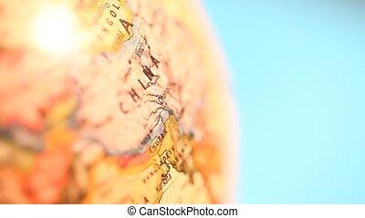 Vintage Globe - Close up of old vintage?globe