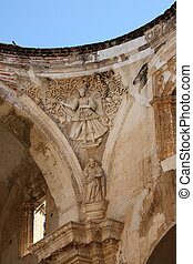 Ruined Cathedral, Antigua Guatemala - High roof arches and...