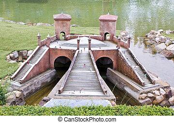 Italy in Miniature Park, Rimini - Tre Ponti di Comacchio,...