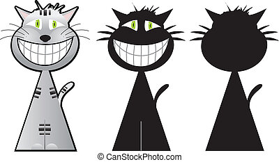 Cheshire cat three shapes