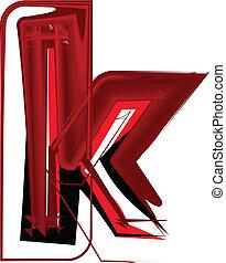 Artistic font letter k