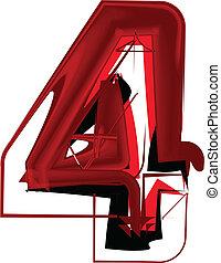 Artistic font number 4